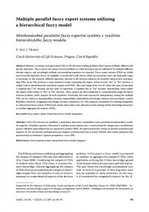 Multiple parallel fuzzy expert systems utilizing a hierarchical fuzzy model