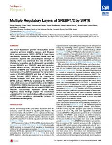 Multiple Regulatory Layers of SREBP1/2 by SIRT6 - Cell Press