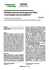 Multiple sclerosis and pregnancy - Semantic Scholar