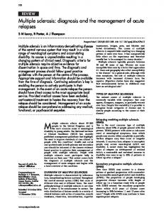Multiple sclerosis: diagnosis and the management of ... - Europe PMC