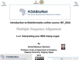Multiple Sequence Alignment - H3ABioNet training course material