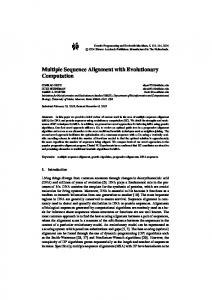 Multiple Sequence Alignment with Evolutionary ... - Springer Link