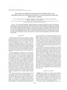 multiplex polymerase chain reaction amplification and differentiation of ...