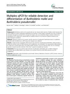 Multiplex qPCR for reliable detection and ... - BioMedSearch