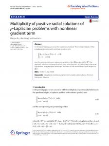Multiplicity of positive radial solutions of p-Laplacian problems with ...