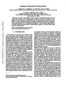 Multipole nonlinearity of metamaterials
