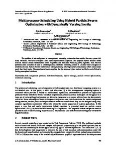 Multiprocessor Scheduling Using Hybrid Particle Swarm ... - CiteSeerX