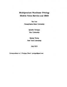 Multiproduct Nonlinear Pricing - Semantic Scholar