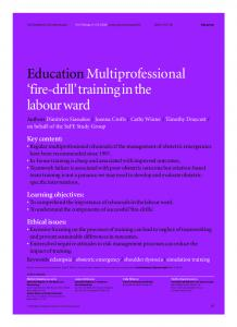 Multiprofessional firedrill training in the labour ... - Wiley Online Library