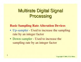 Multirate Digital Signal Processing - Signal and Image Processing ...