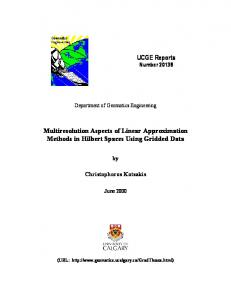 Multiresolution Aspects of Linear Approximation