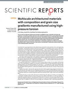 Multiscale architectured materials with composition ... - CyberLeninka