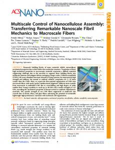 Multiscale Control of Nanocellulose Assembly ... - ACS Publications