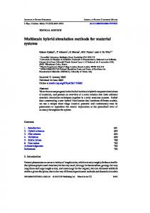 Multiscale hybrid simulation methods for material systems - Theory of