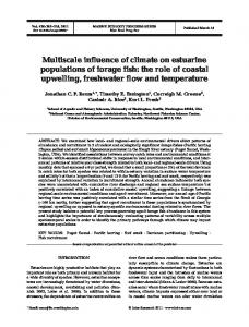 Multiscale influence of climate on estuarine populations of forage fish ...