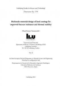 Multiscale materials design of hard coatings for
