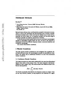 Multiscale Methods