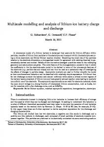 Multiscale modelling and analysis of lithium-ion