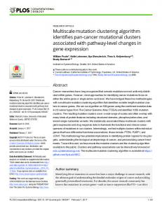 Multiscale mutation clustering algorithm identifies pan-cancer ...