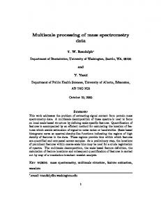 Multiscale processing of mass spectrometry data