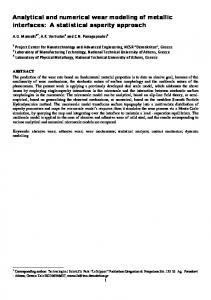 Multiscale statistical wear modelling based on