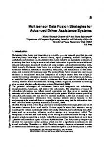Multisensor Data Fusion Strategies for Advanced ...