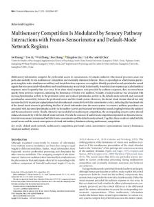Multisensory Competition Is Modulated by Sensory Pathway ...