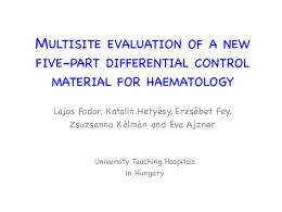 multisite evaluation of a new five-part differential control ... - CSCQ