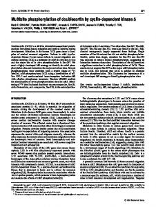Multisite phosphorylation of doublecortin by cyclin-dependent kinase 5
