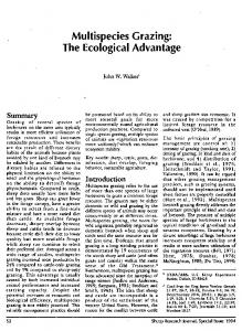 Multispecies Grazing: The Ecological Advantage