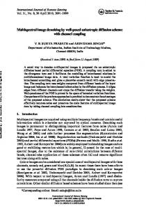 Multispectral image denoising by well-posed anisotropic diffusion ...