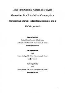 multistage and stochastic optimization of bidding strategies for a price ...