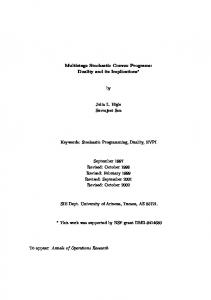 Multistage Stochastic Convex Programs