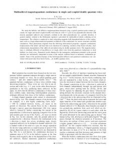 Multisublevel magnetoquantum conductance in ... - APS Link Manager