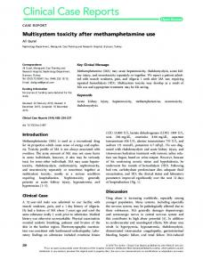 Multisystem toxicity after methamphetamine use - Wiley Online Library