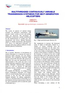 multithreaded continuously variable transmission synthesis for ...