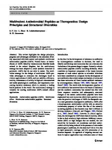 Multivalent Antimicrobial Peptides as Therapeutics - Springer Link