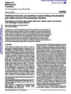 Multivalent interaction and selectivities in selectin binding of ...