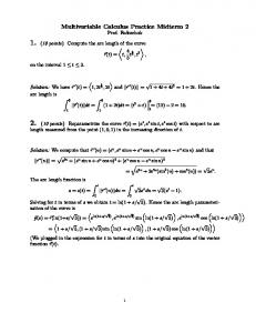 Multivariable Calculus Practice Midterm 2