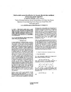 Multivariable system identification for dynamic discrete-time nonlinear ...