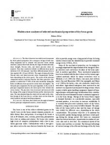Multivariate analyses of selected mechanical properties of ... - Sciendo