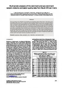 Multivariate analysis of the dominant and sub-dominant epipelic ...