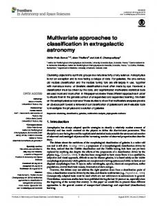 Multivariate approaches to classification in extragalactic ... - Core