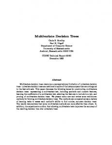 Multivariate Decision Trees - CiteSeerX