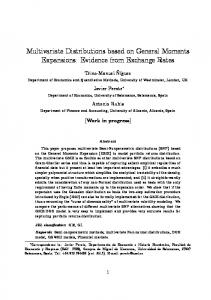 Multivariate Distributions based on General Moments ...