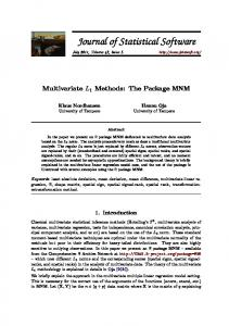 Multivariate L1 Statistical Methods: The ... - Journal of Statistical Software