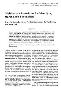 Multivariate Procedures for Identifying Rural Land ... - AgEcon Search