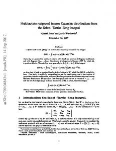 Multivariate reciprocal inverse Gaussian distributions from the Sabot ...