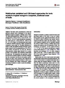 Multivariate statistical and GIS-based approaches for