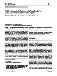 Multivariate statistical assessment of a polluted river